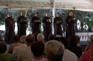 Canto Gregoriano com Monges do Mosteiro de São Bento - Foto: Diego Rabatone Oliveira